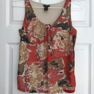 Ann Taylor Petite Floral Sleeveless Top SP